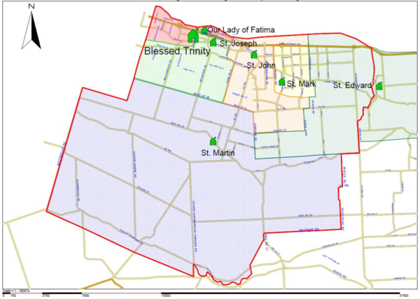 Blessed Trinity Boundary map