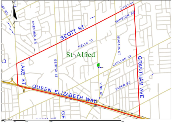 St Alfred boundary map